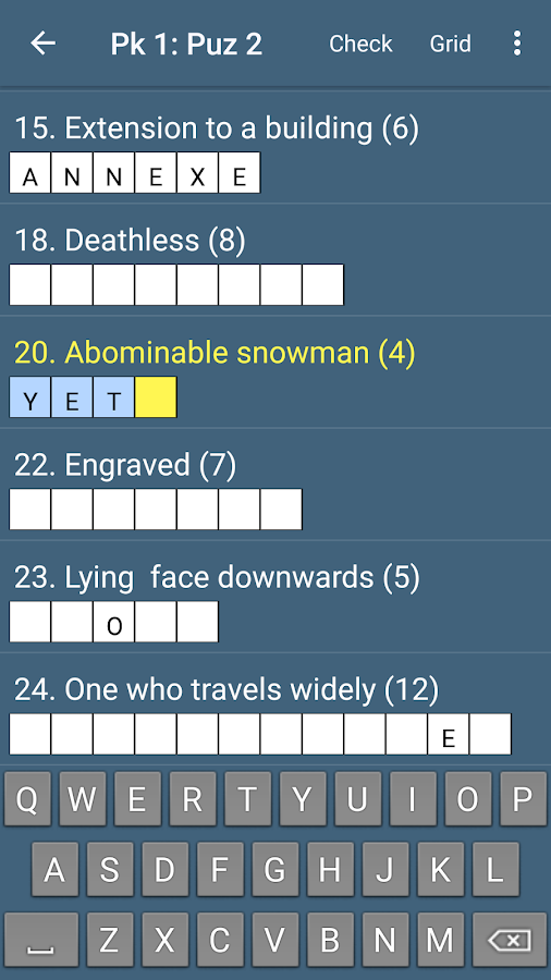 Best Quick Crossword- screenshot