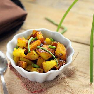 Potato Leek Subzi with fennel and mustard seeds. vegan glutenfree..