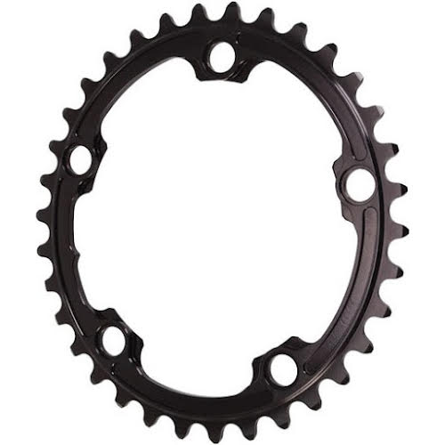 Absolute Black 34t Premium Oval Road 2x Chainring, 5x110BCD