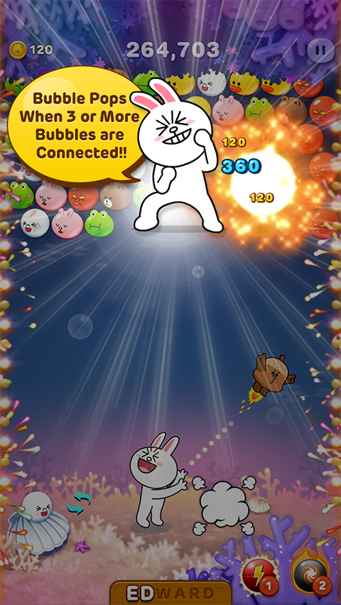 LINE Bubble! - screenshot
