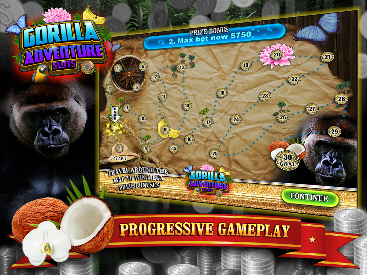 Gorilla Adventure Slots Silverback Bucks FREE- screenshot