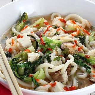 Miso Udon Noodle Soup.