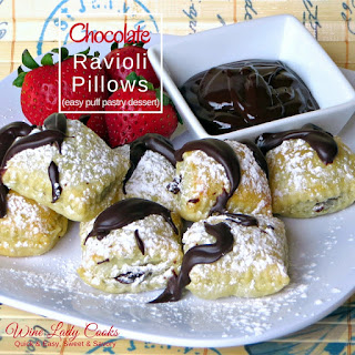 Chocolate Ravioli Pillows Dessert Recipe