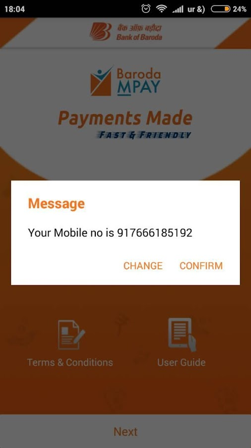 Baroda MPay- screenshot
