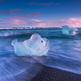 Jokulsarlon by Rashid Ramdan - Landscapes Beaches ( iceberg, iceland, jokulsarlon, nature, ice, travel, beach, landscapes )