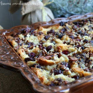 Dairy Free Cranberry Almond Bread Pudding