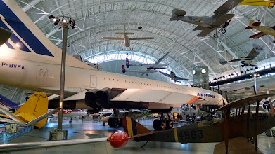 Photo: Air France's Concorde, supersonic commercial airliner, is on display at the National Air and Space Museum facility in Chantilly, VA.