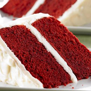 Red Velvet Cake with Vanilla Cream Cheese Frosting.