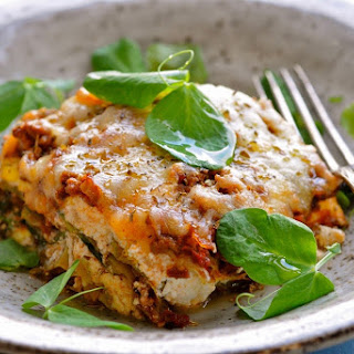 Lasagna with Ricotta Cheese on Cabbage shells