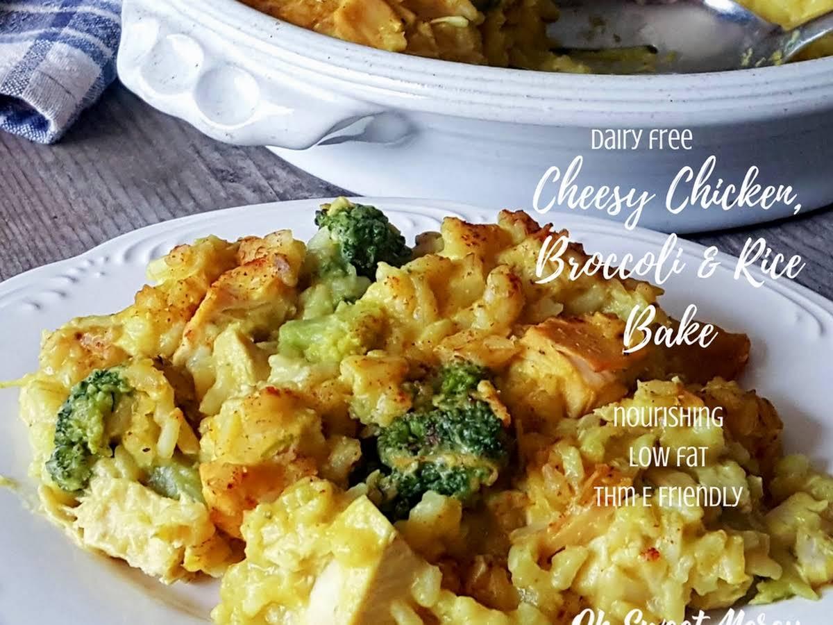 Dairy Free Cheesy Chicken Broccoli And Rice Bake Nourishing Carbs