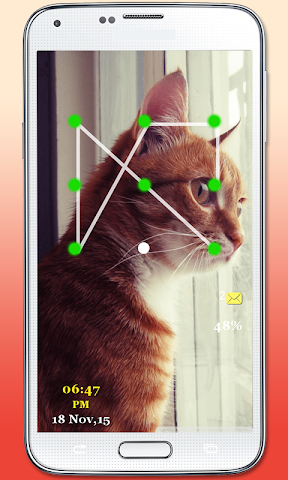 android Kitty Cat Pattern Lock Screenshot 5