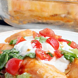 Creamy Chicken Enchilada Bake