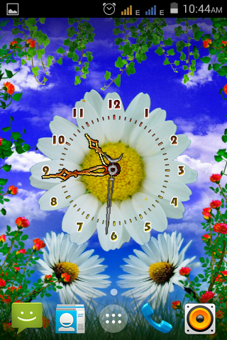 Daisy Flower Clock