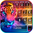 Fluorescent Neon Tiger Keyboard Theme