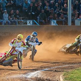 Flying for the win by Jiri Cetkovsky - Sports & Fitness Motorsports ( fly, speedway, motorsport, race, jump )