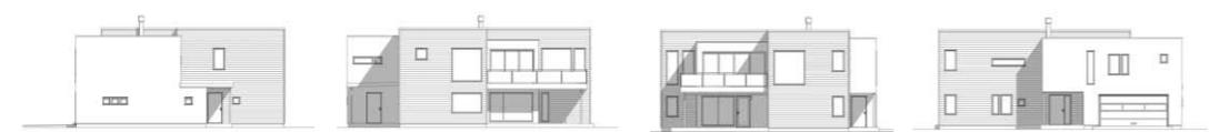 blåprint av Haugesund huset