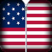 Usa Flag Zipper Lock APK for Bluestacks