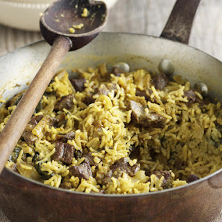 Lamb Pilaf with Yogurt Sauce