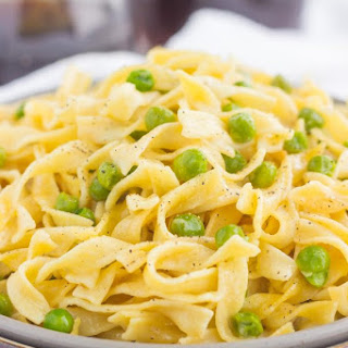 Creamy Skillet Noodles with Peas.