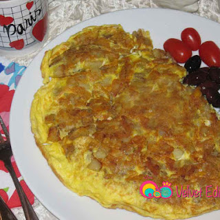 Potato and Eggs Frittata.