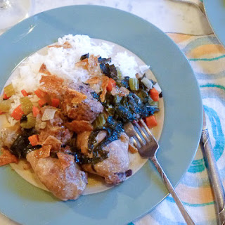 Collard Greens and Chicken Fricassee