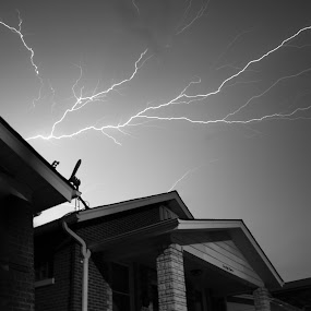 Electric by Jason Arand - Landscapes Weather ( lighting, weather, nightsky, homes, storm )