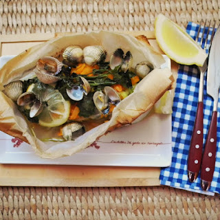 Vegetables And Cockle In Papillote.
