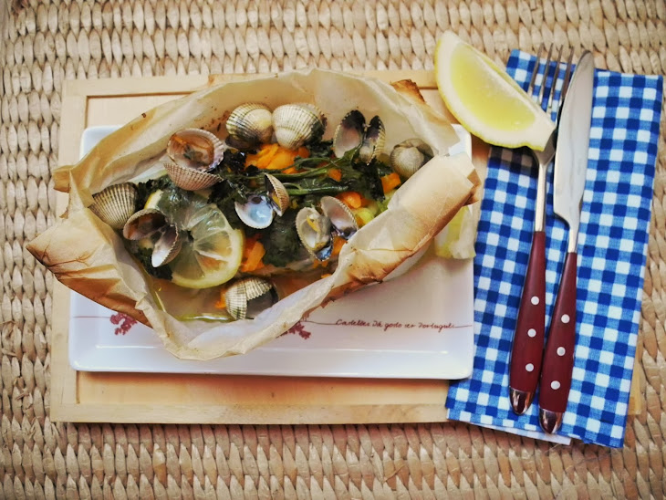 Vegetables and Cockle in Papillote Recipe
