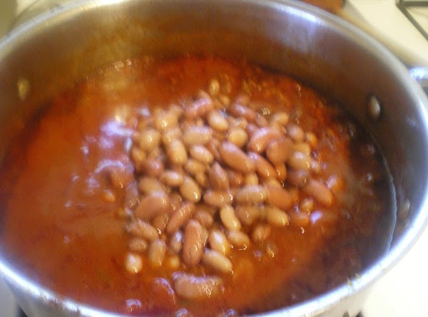 Drain beans and add them to the chili.  Taste for seasoning add salt...