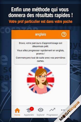 Apprendre l'Anglais rapidement - MosaLingua Android App Screenshot