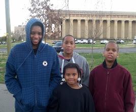 Photo: the kids at Centennial Park
