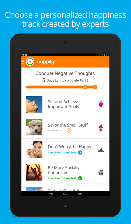 Happify- screenshot
