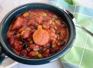Bean & Pea Slow Cooker Soup Recipe