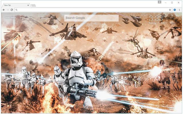 Star Wars HD New Tab - Starwars Themes
