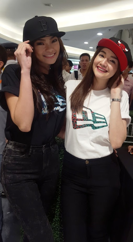 EMMA MARY TIGLAO AND BEA CANDAZA SPORTING NEW ERA CAPS AND T-SHIRTS