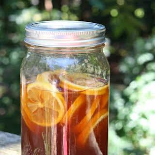 """Honey, Lemon, and Ginger """"Remedy"""" for Hot or Iced Tea."""
