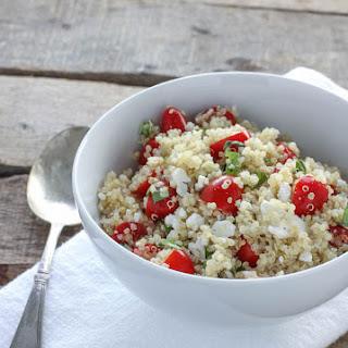 Quinoa with Tomatoes, Basil & Feta