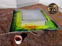 Test à la fluorescéine pour une infiltration toiture