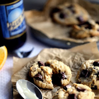 Blue Moon Wassail Chocolate Chunk Cookies with Orange Glaze