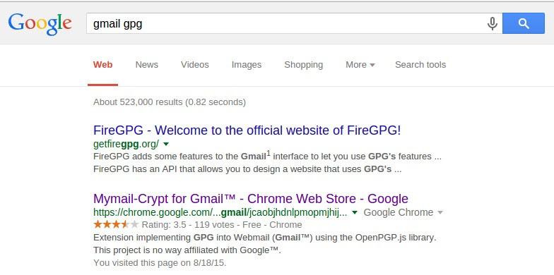 Search GPG Plugin