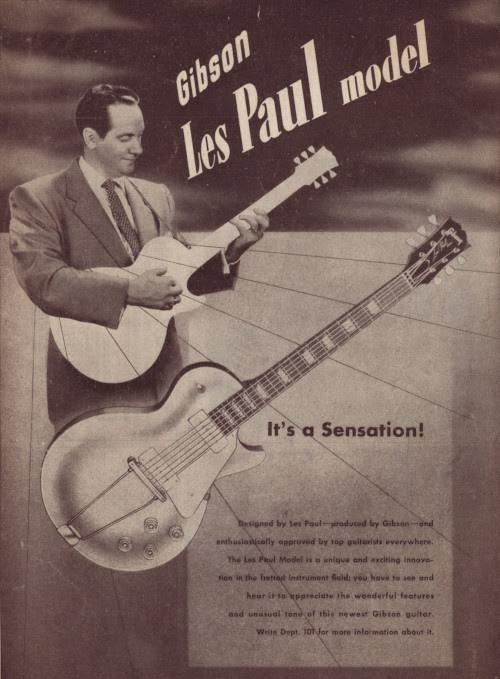 Gibson Les Paul varhainen mainos