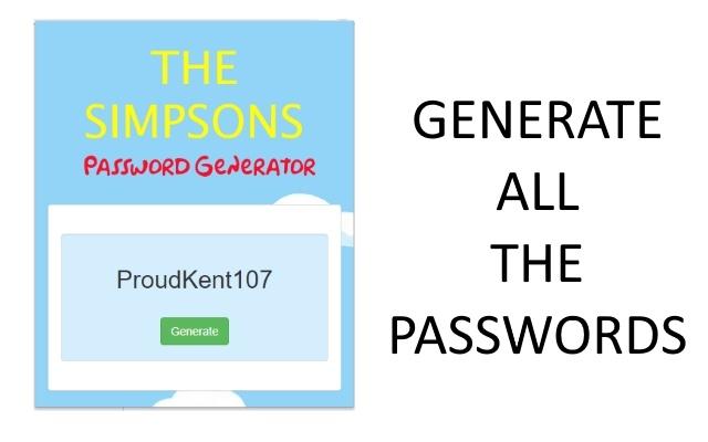 SimpsonsPass Password Generator