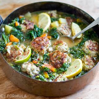 Turkey Meatballs & Kale In Lemony Garlic Broth - Guest