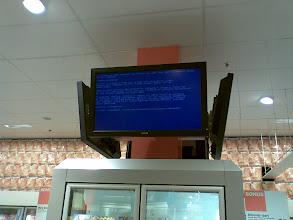 Photo: in de ah: blue screen of death