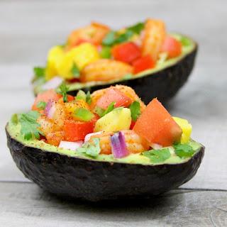 Shrimp and Mango Ceviche Filled Avocados Recipe