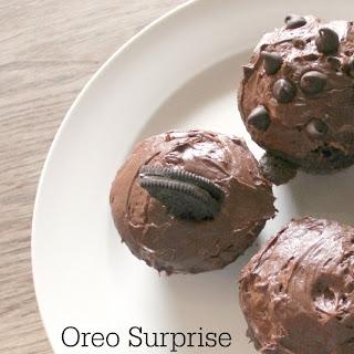 Oreo Surprise Chocolate Cupcake