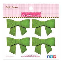 Bella Blvd Bella Felt Bows 4/Pkg - Guacamole UTGÅENDE