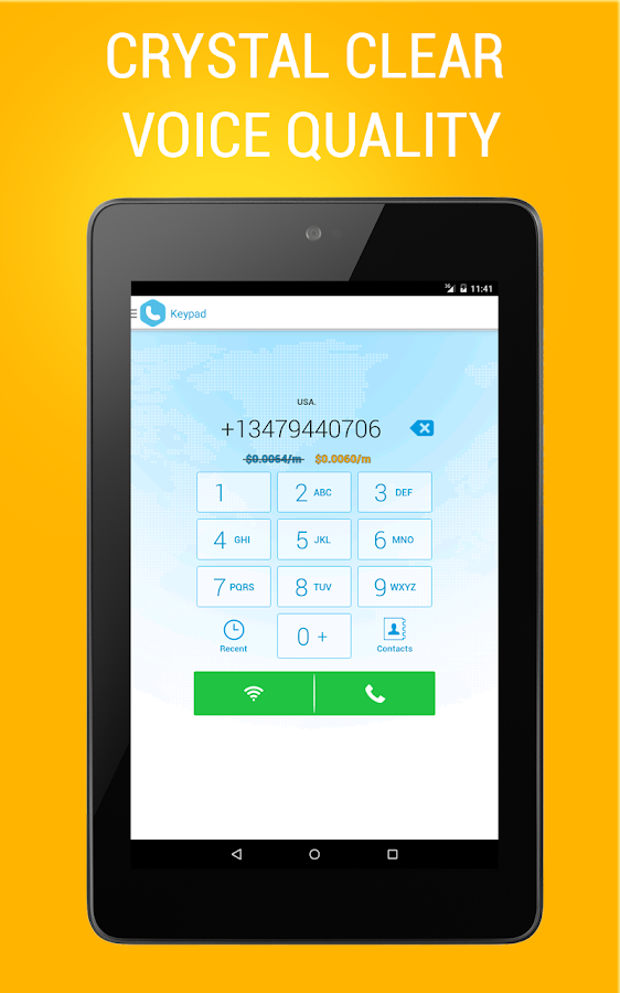 Bluee Free International Calls - screenshot