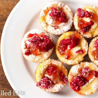 Brie Appetizer Bites with Raspberry Low Carb Keto THM S.