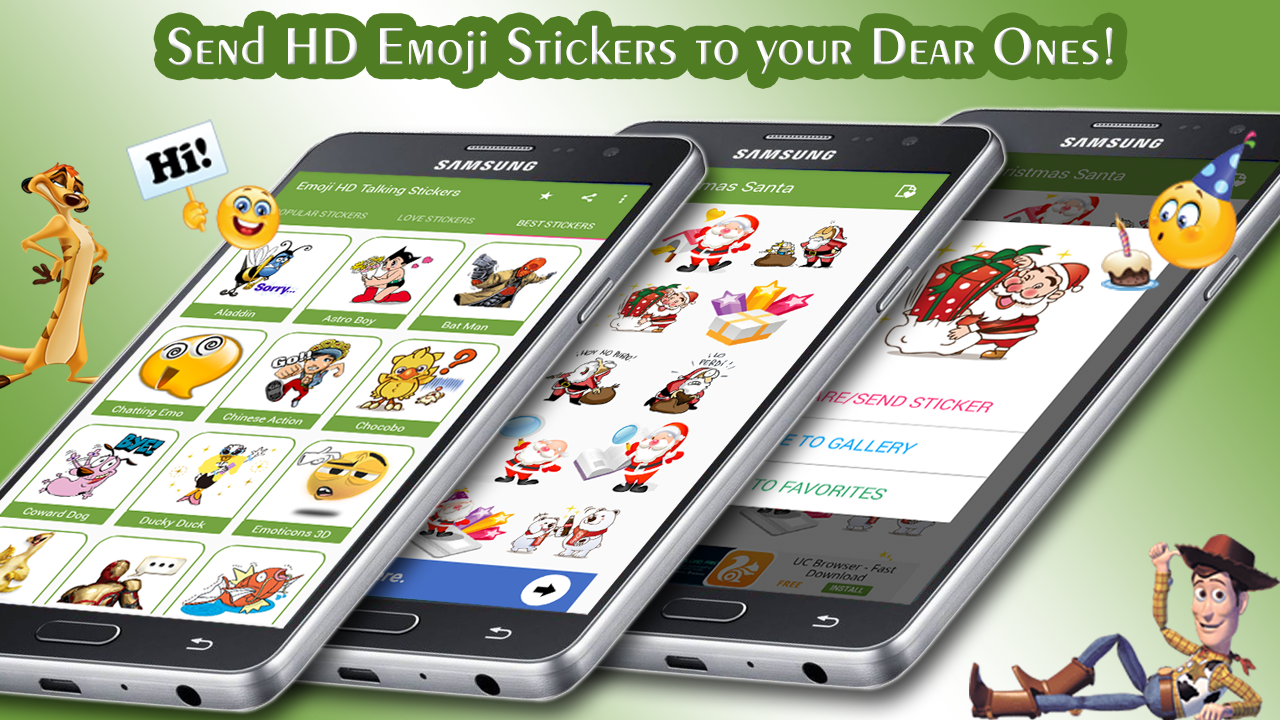 Emoji HD Talking Stickers- screenshot
